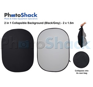 Black / Grey Collapsible Background & Reflector