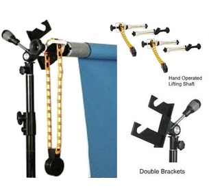 Background Support System Set: Double Brackets (Holds 2) + Roller & Chain