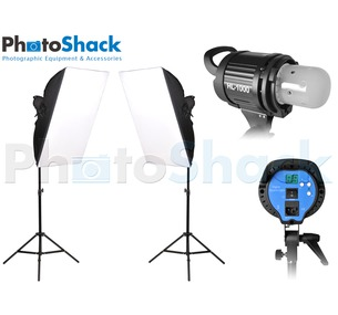 HL1000 Video Light with Softbox (x2)