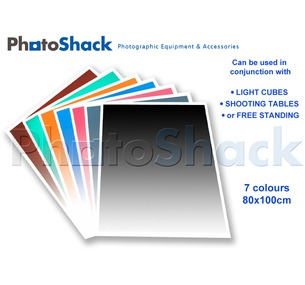 Gradated Paper Background 7 Colour 100x80