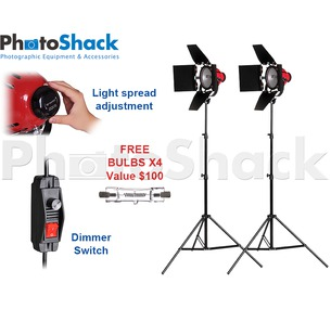 Red Head Continuous Light Kit 1600w With 2 Stands