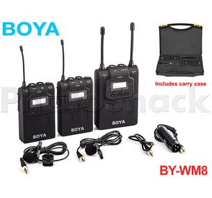 Boya UHF Dual-Channel Wireless Microphone System
