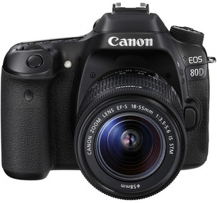 Canon 80D body + 18-55mm Canon kit lens