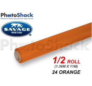 SAVAGE Paper Backdrop Half Roll - 24 Orange