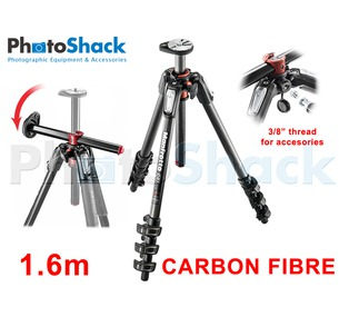 Manfrotto 1.6m 4 section Carbon Fibre Tripod Legs with 90° Rotatable Column