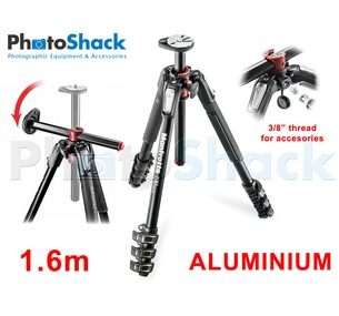 Manfrotto 1.6m 4 section Aluminium Tripod Legs Legs with 90° Rotatable Column