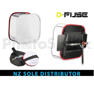 "D-Fuse Collapsible Universal Softbox 12"" x 12"" - White"