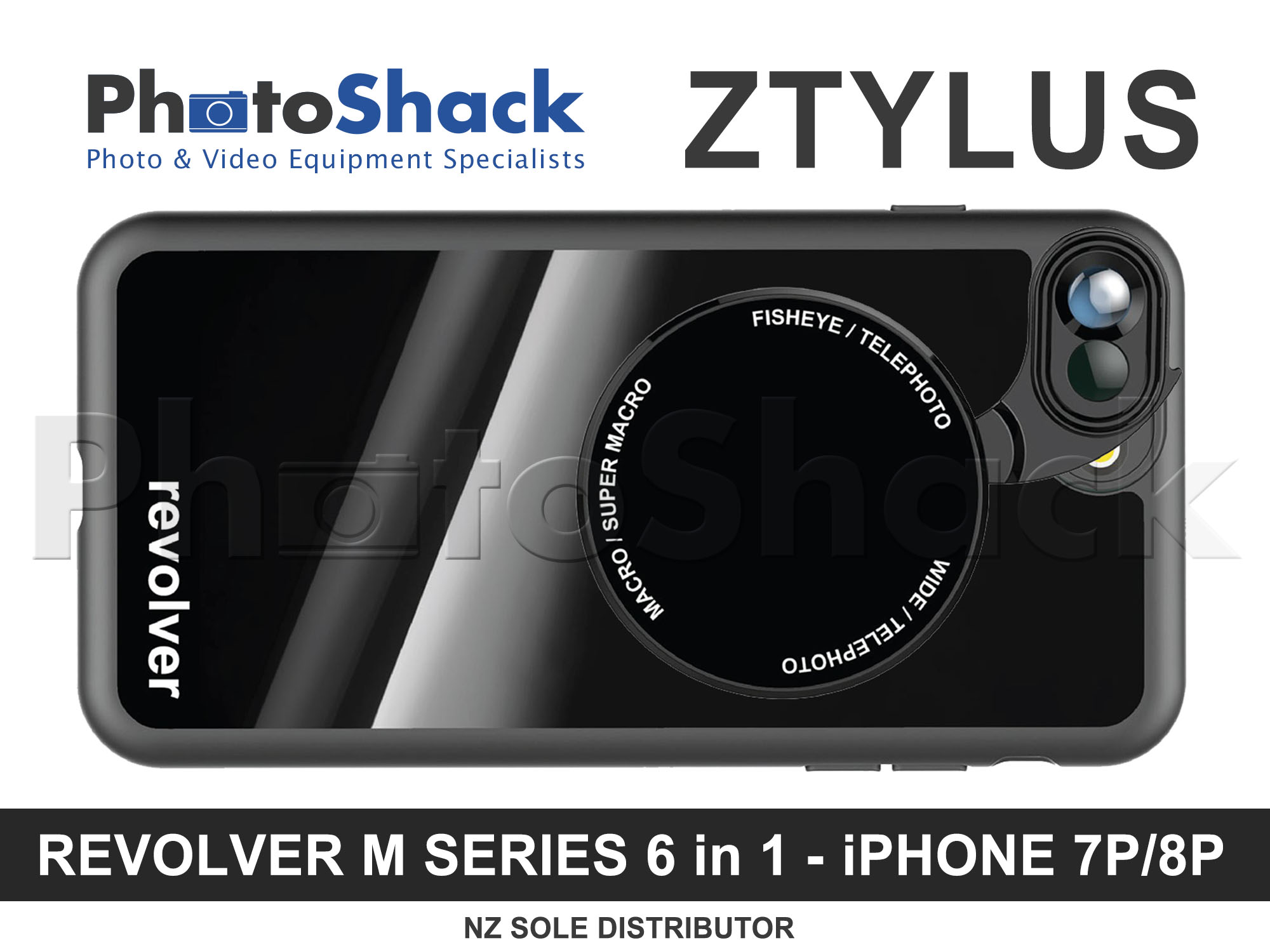 Ztylus Magnetic 6 in 1 Revolver Lens Kit for iPhone 7+/8+