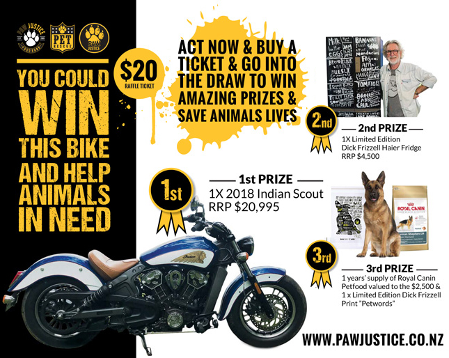 Paw Justice : The Ride for Justice Prize Ticket 2018