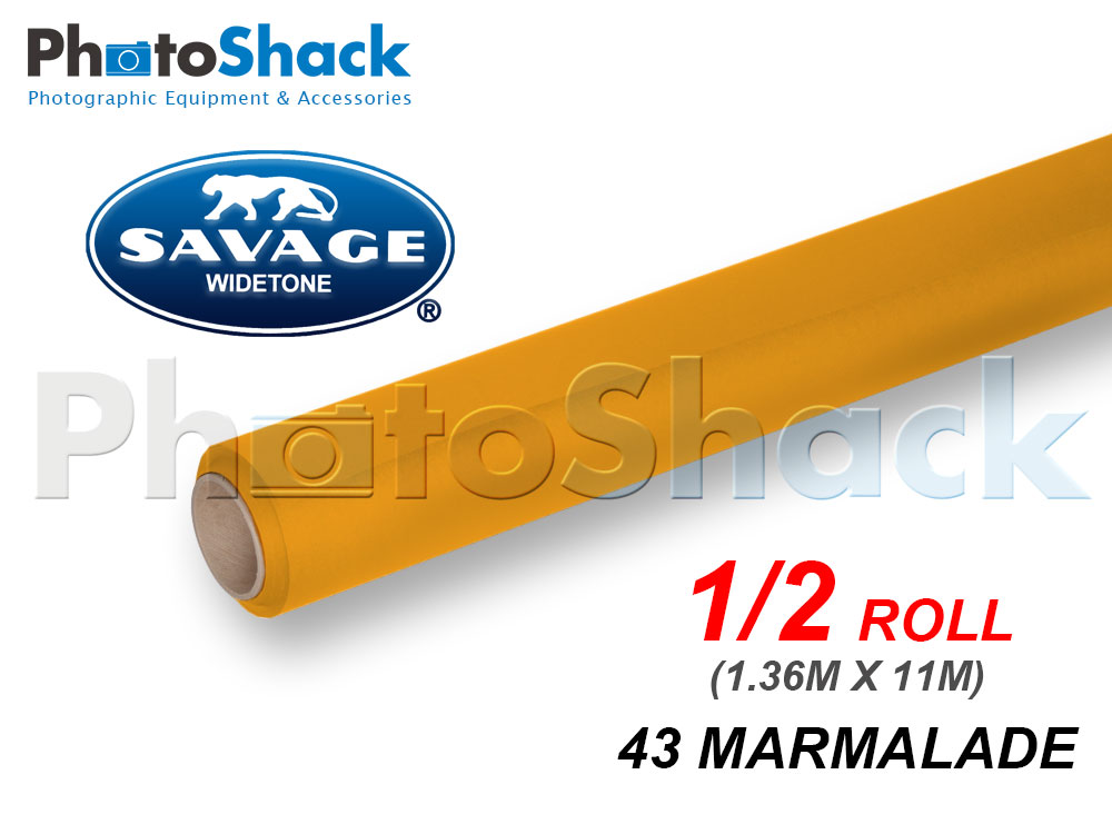 SAVAGE Paper Background Half Roll - 43 Marmalade
