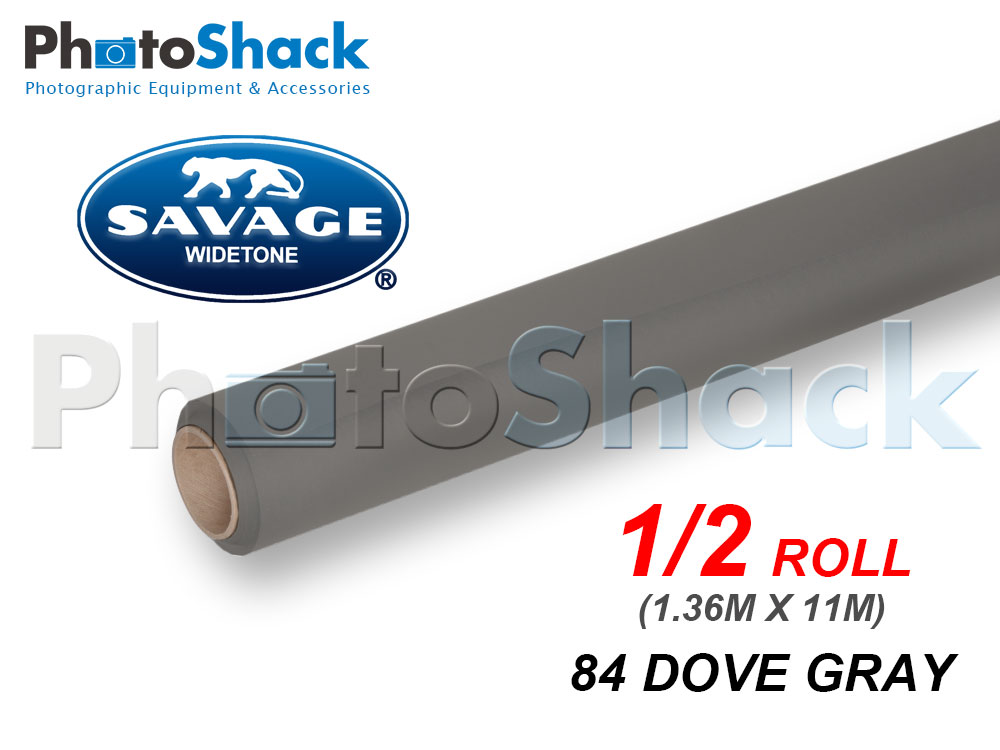 SAVAGE Paper Background Half Roll - 84 Dove Gray