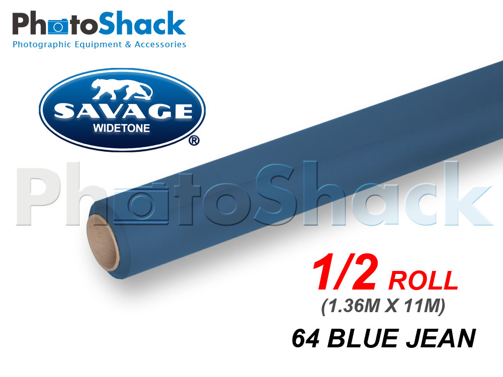 SAVAGE Paper Backdrop Half Roll - 64 Blue Jean