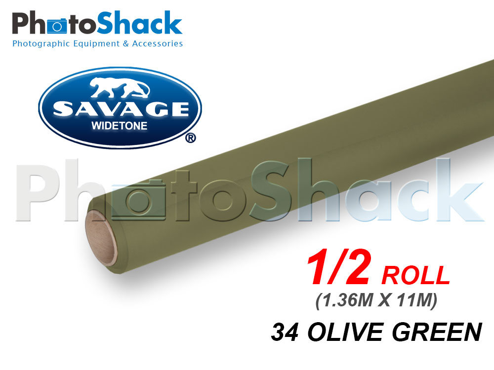 SAVAGE Paper Background Half Roll - 34 Olive Green