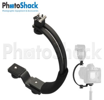 C-shaped flash bracket
