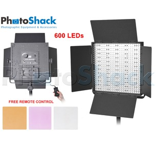 600 LED Light with remote control & carry bag