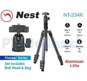 Nest 1.4m Aluminium Tripod 4 section