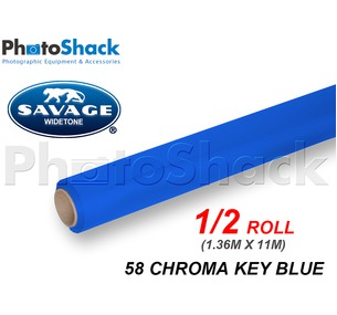 SAVAGE Paper Backdrop Half Roll - 58 Chroma Key Blue