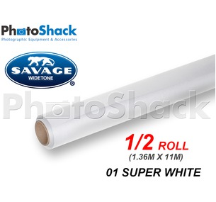 SAVAGE Paper Backdrop Half Roll - 01 Super White