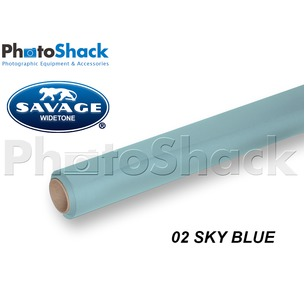 SAVAGE Paper Backdrop Roll - 02 Sky Blue