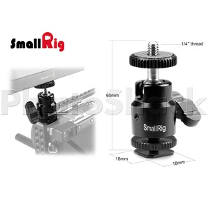 "SmallRig 1/4"" Camera Hot shoe Mount with Additional 1/4"" Screw - 761"