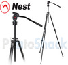 Nest Fluid Panning Head 28mm Tripod Kit with NT-720H head and Elevator Column