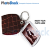 Key Ring with faux leather cover