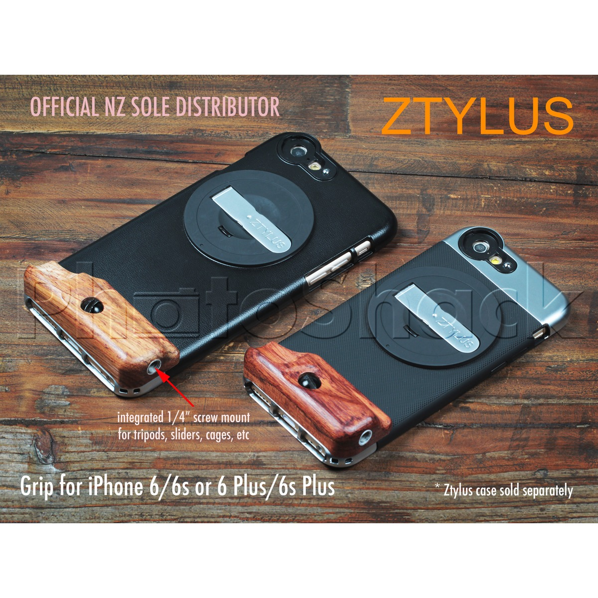 Hand Grip Attachment for iPhones (for Ztylus Cases)