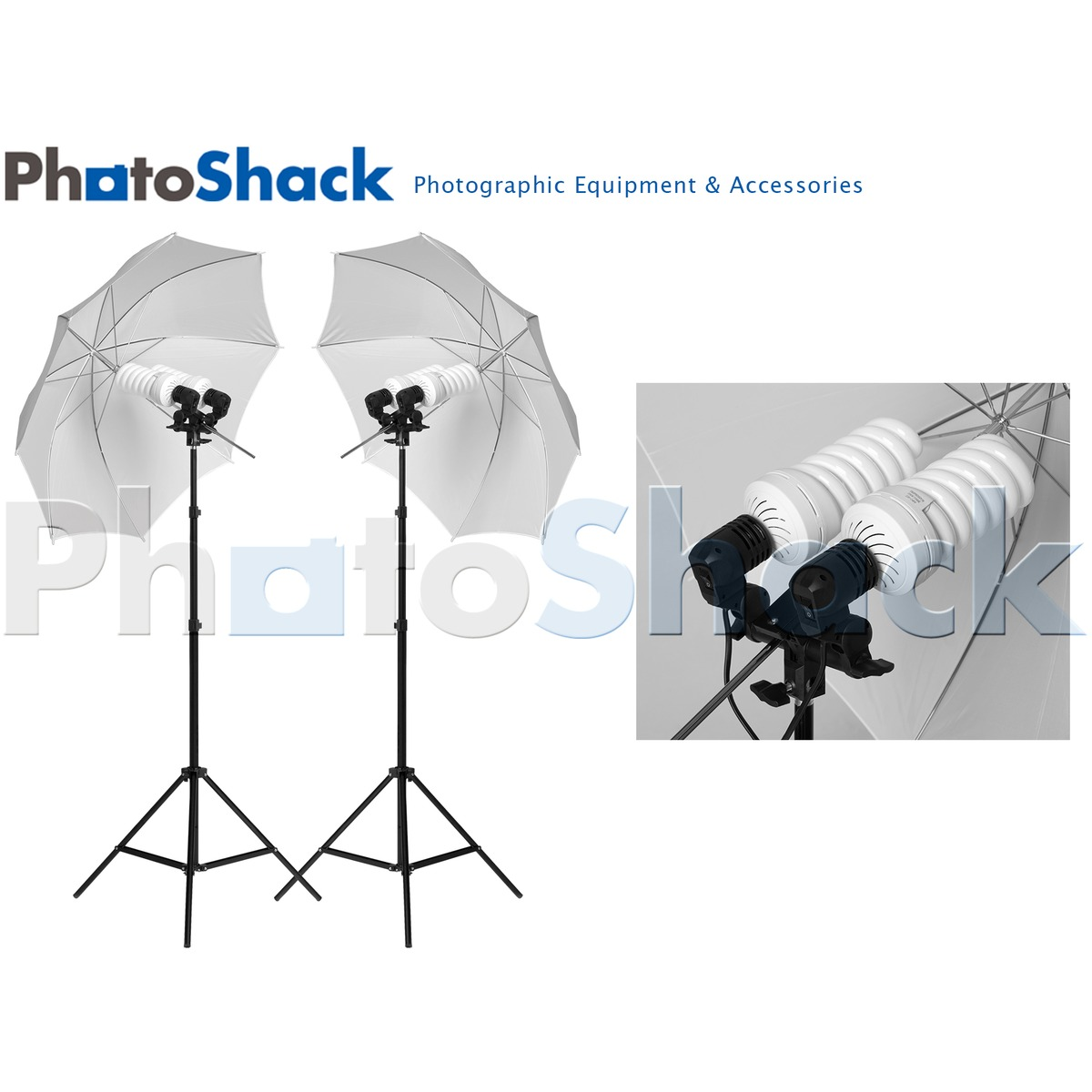 Continuous Light Set (1700w) with Umbrellas