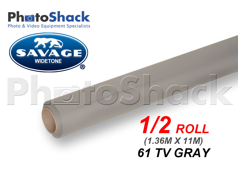 SAVAGE Paper Background Half Roll - 61 TV Gray