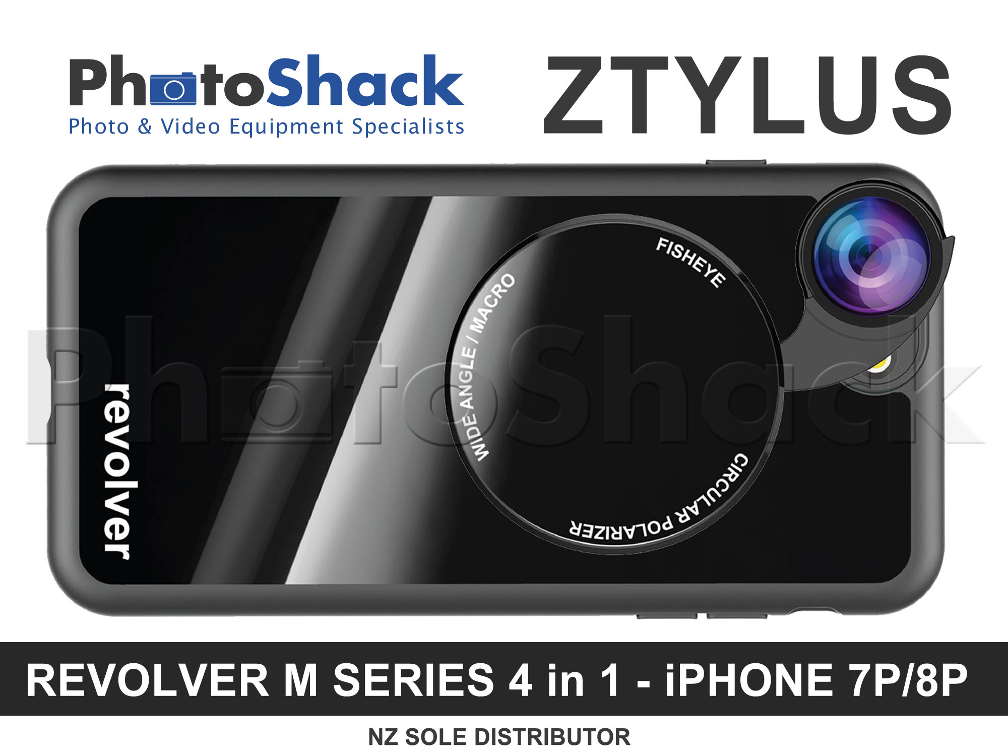 Ztylus Magnetic 4 in 1 Revolver Lens Kit for iPhone 8+ / 7+