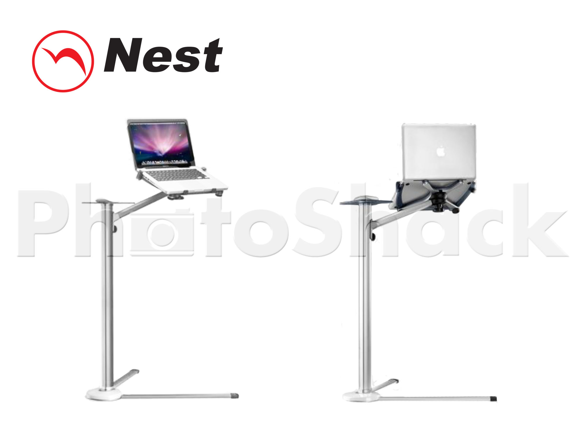 iPad & Tablet Floor Stand 18-84cm - SILVER