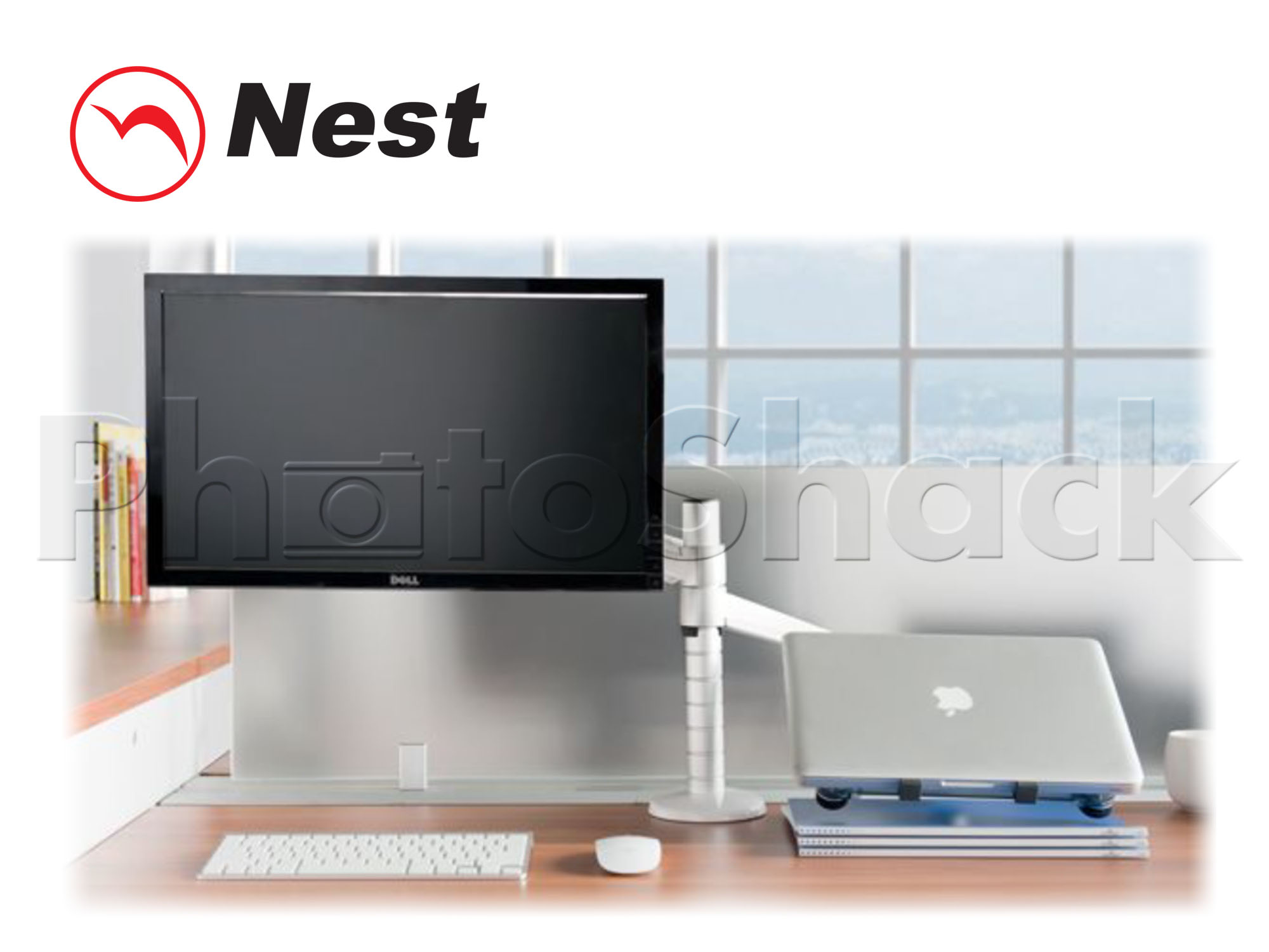 Dual Mount for LCD + Laptop S - SILVER