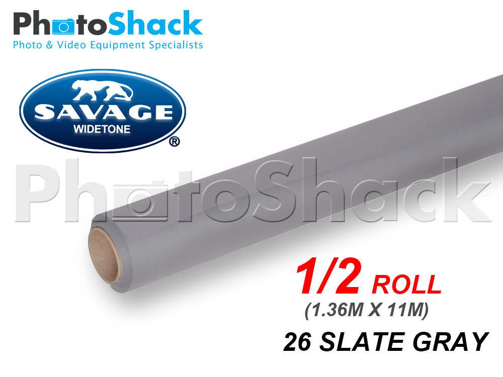 SAVAGE Paper Backdrop Half Roll - 26 Slate Grey