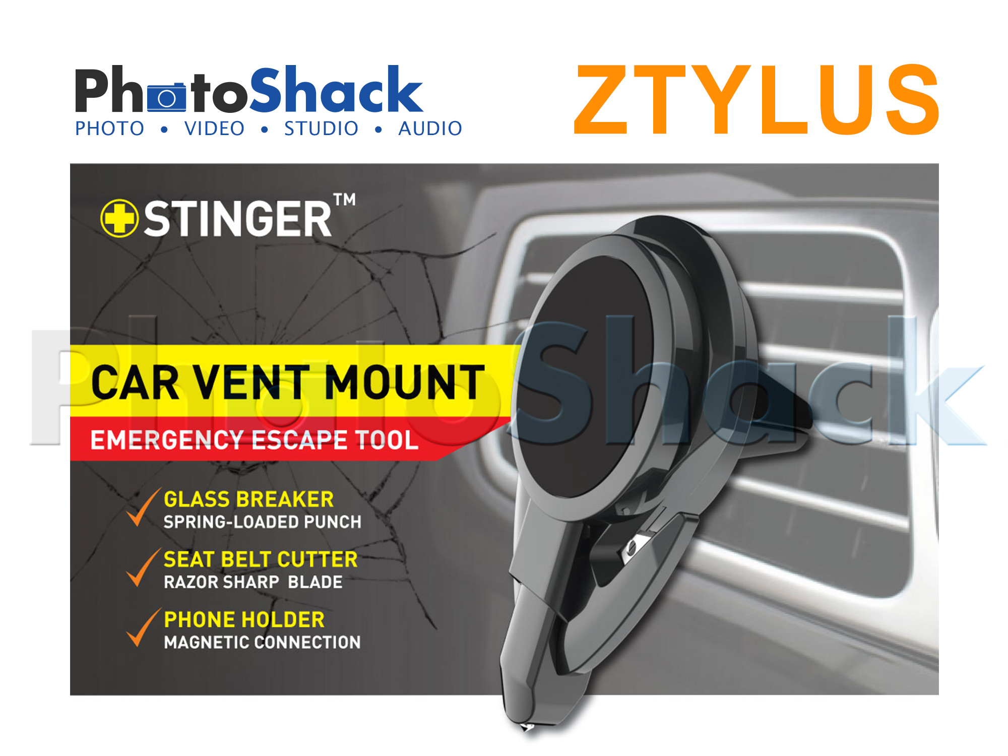 Ztylus Stinger - Car Vent Mount Phone Holder Emergency Tool