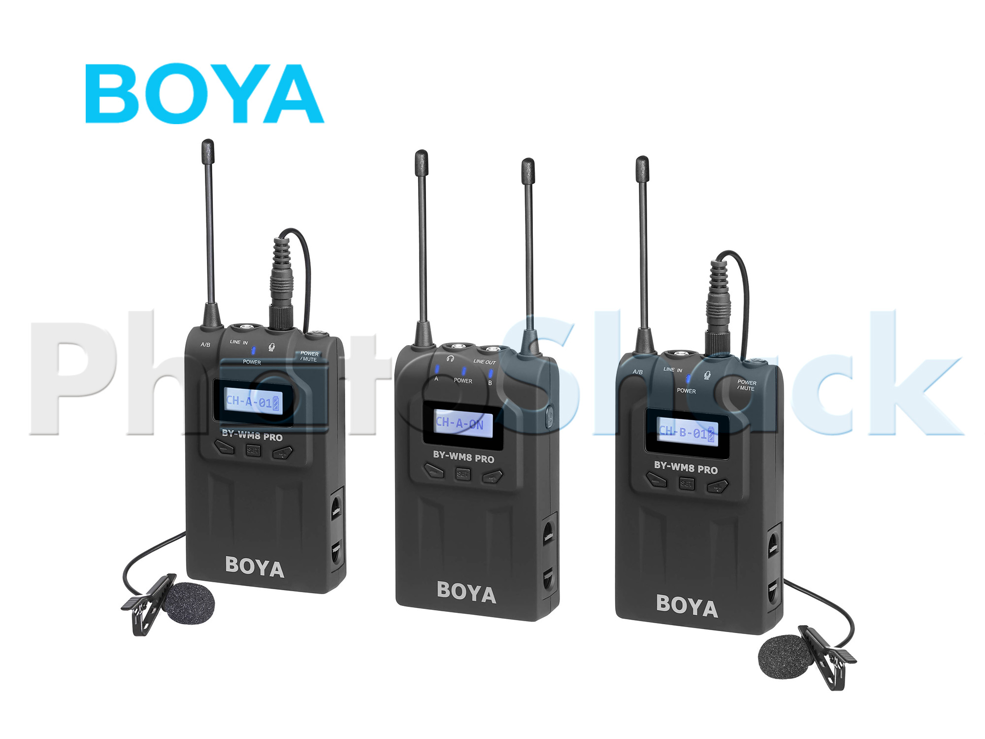 BY WM8 Pro-K2 UHF Dual-Channel Lavalier Wireless Microphone System