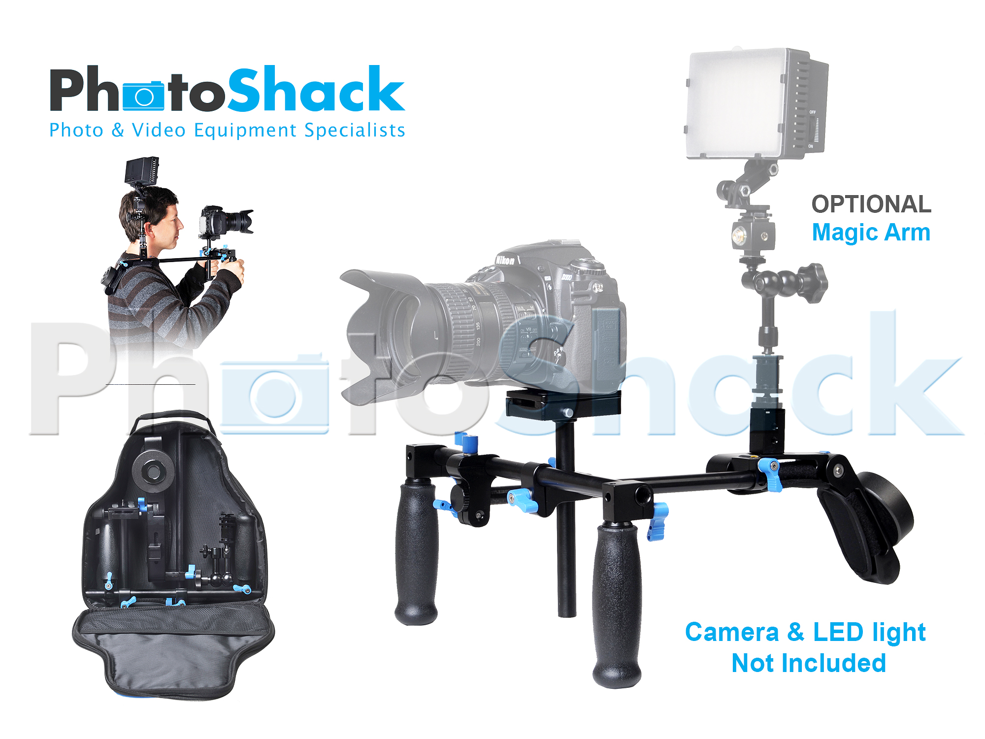 DSLR Video Support Stabilizer Rig