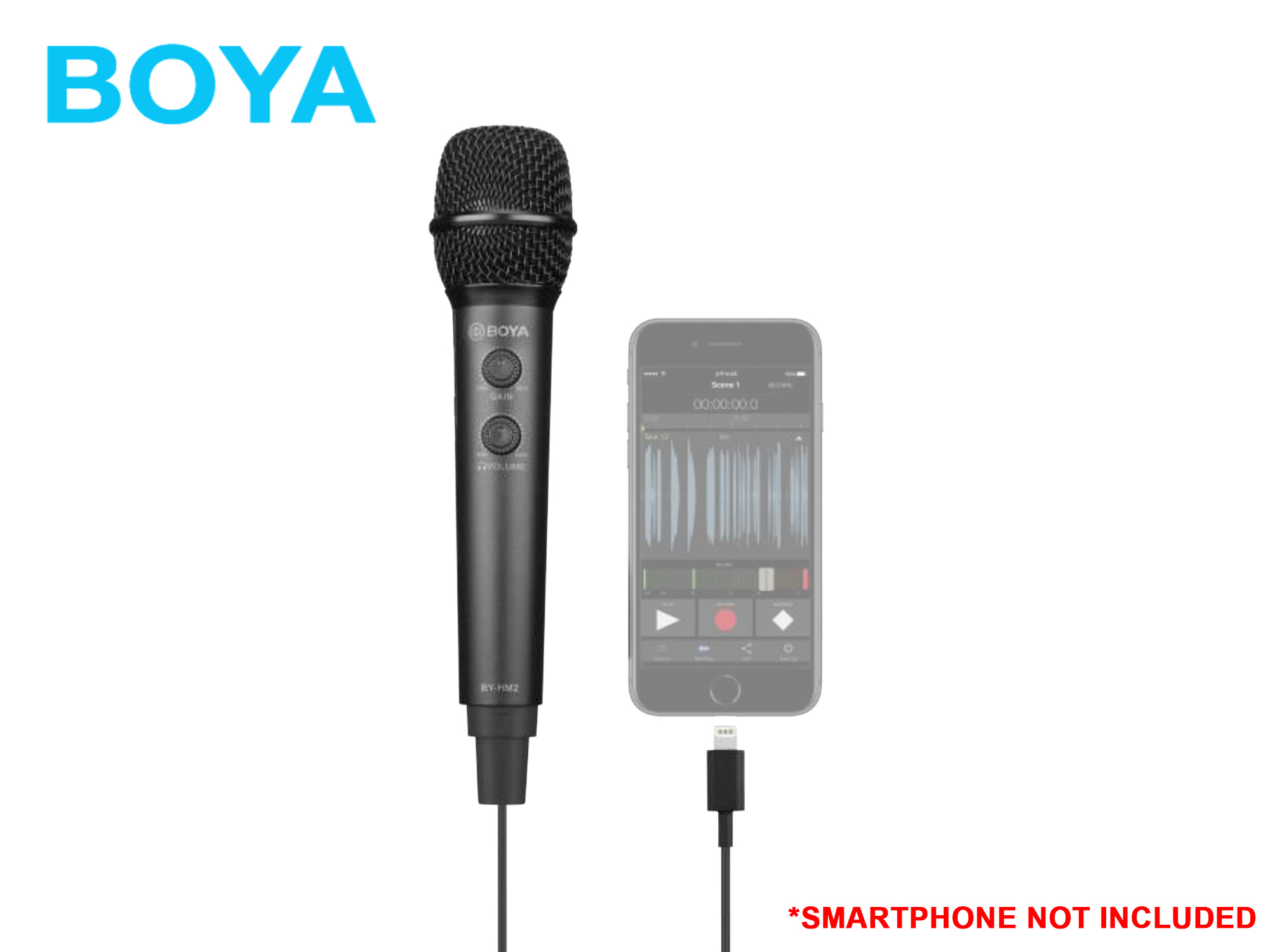Boya BY-HM2 Digital Handheld Microphone for iOS/Android/Mac/Windows