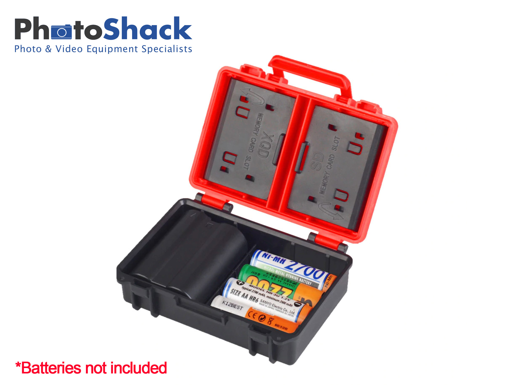 Multifunctional Battery Case and SD/CF Card Holder