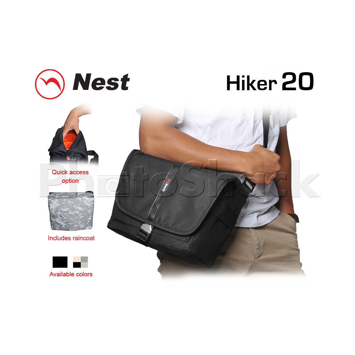 Shoulder Bag - Nest Hiker 20 - Black