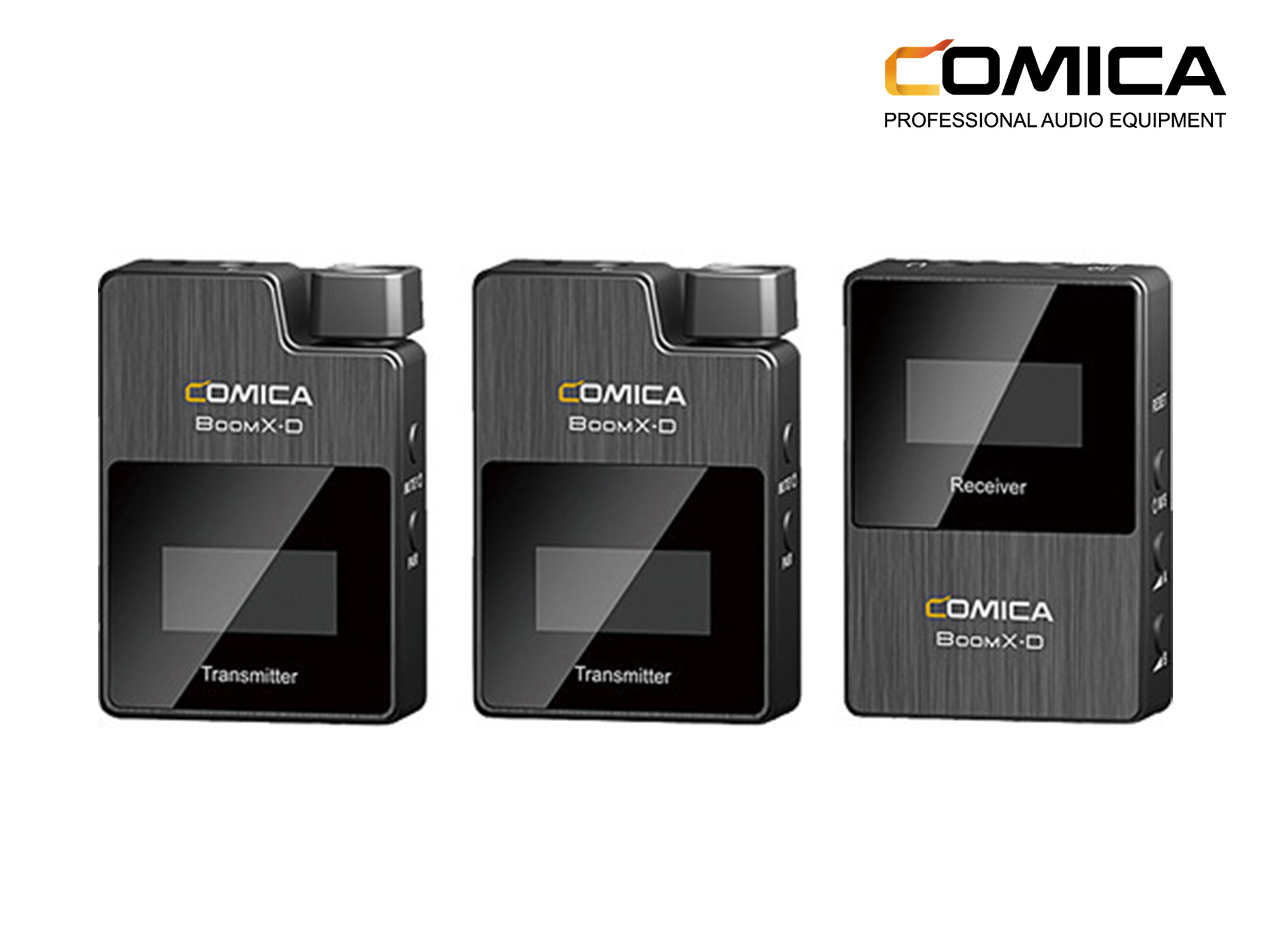 Comica  BoomX-D D2 Ultracompact 2-Person Digital Wireless Microphone System for Mirrorless/DSLR Cameras