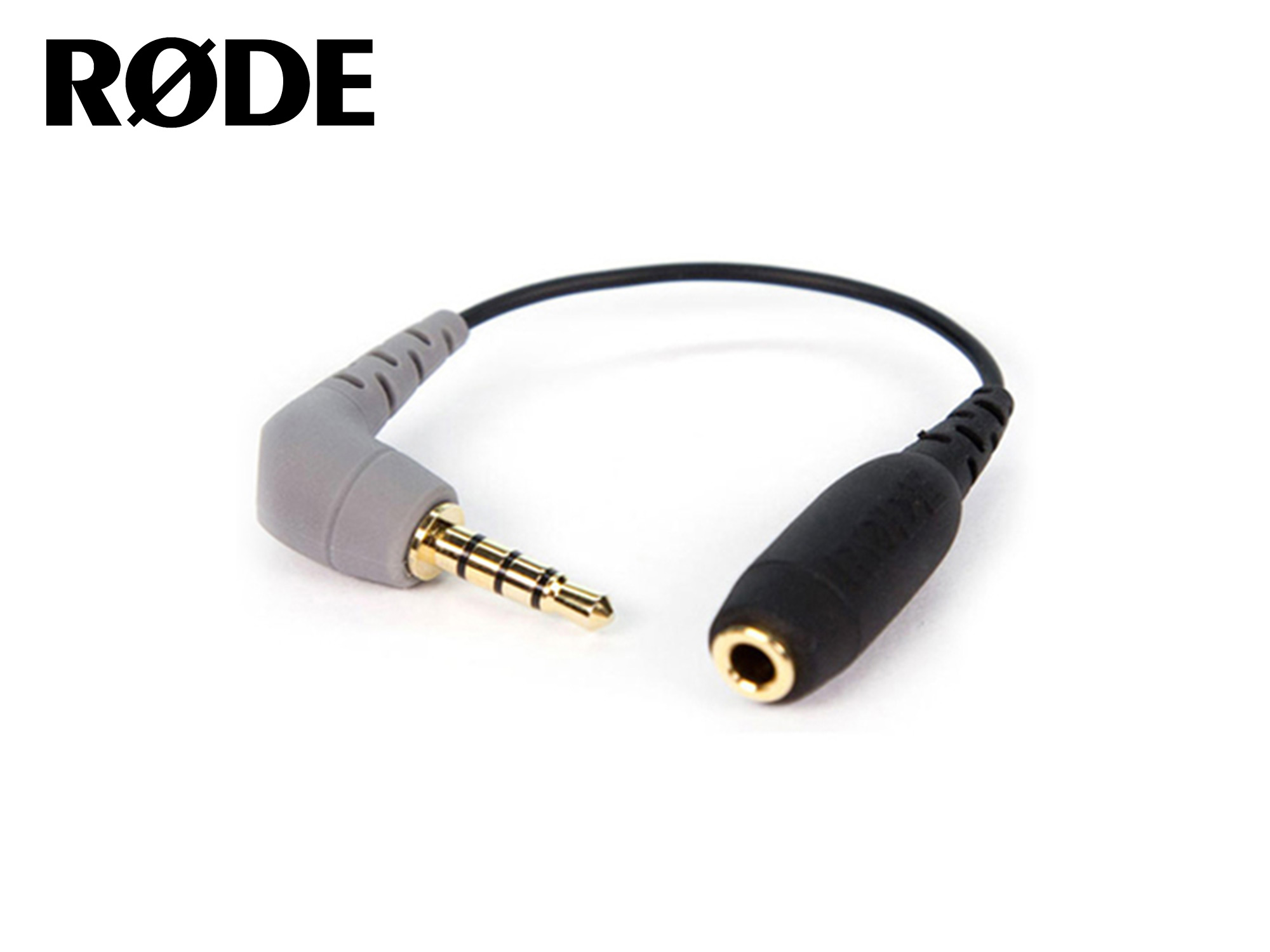Rode SC4 3.5mm TRS Female to 3.5mm Right-Angle TRRS Male Adapter Cable for Smartphones