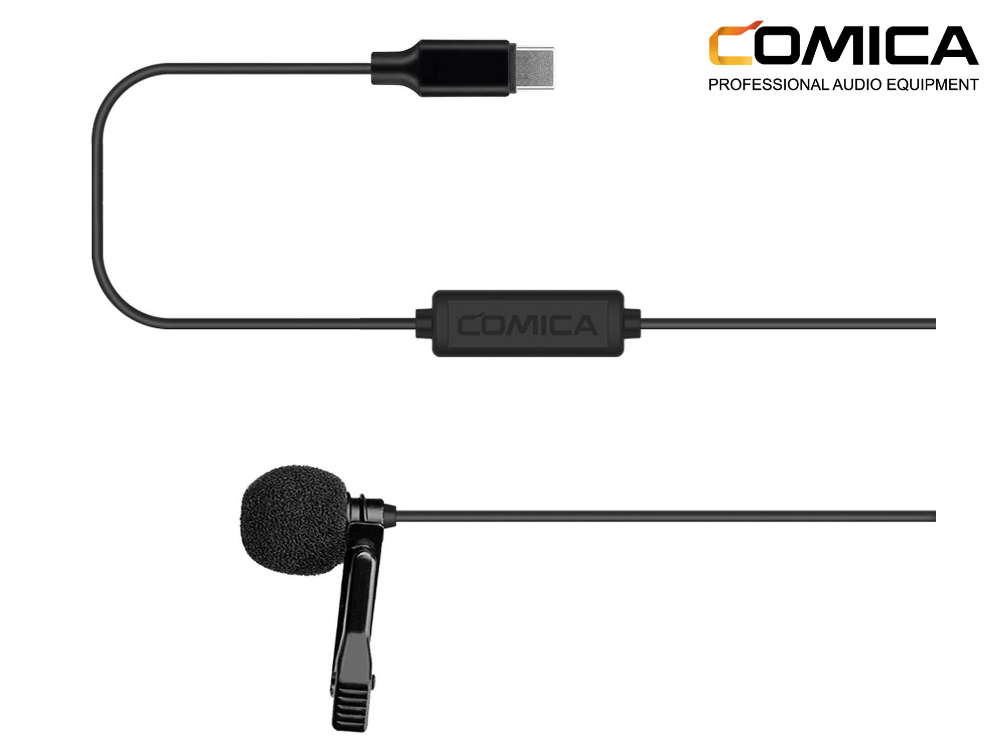 Comica Audio CVM-V01SP(UC) Omnidirectional USB Type-C Lavalier Microphone for Android Devices
