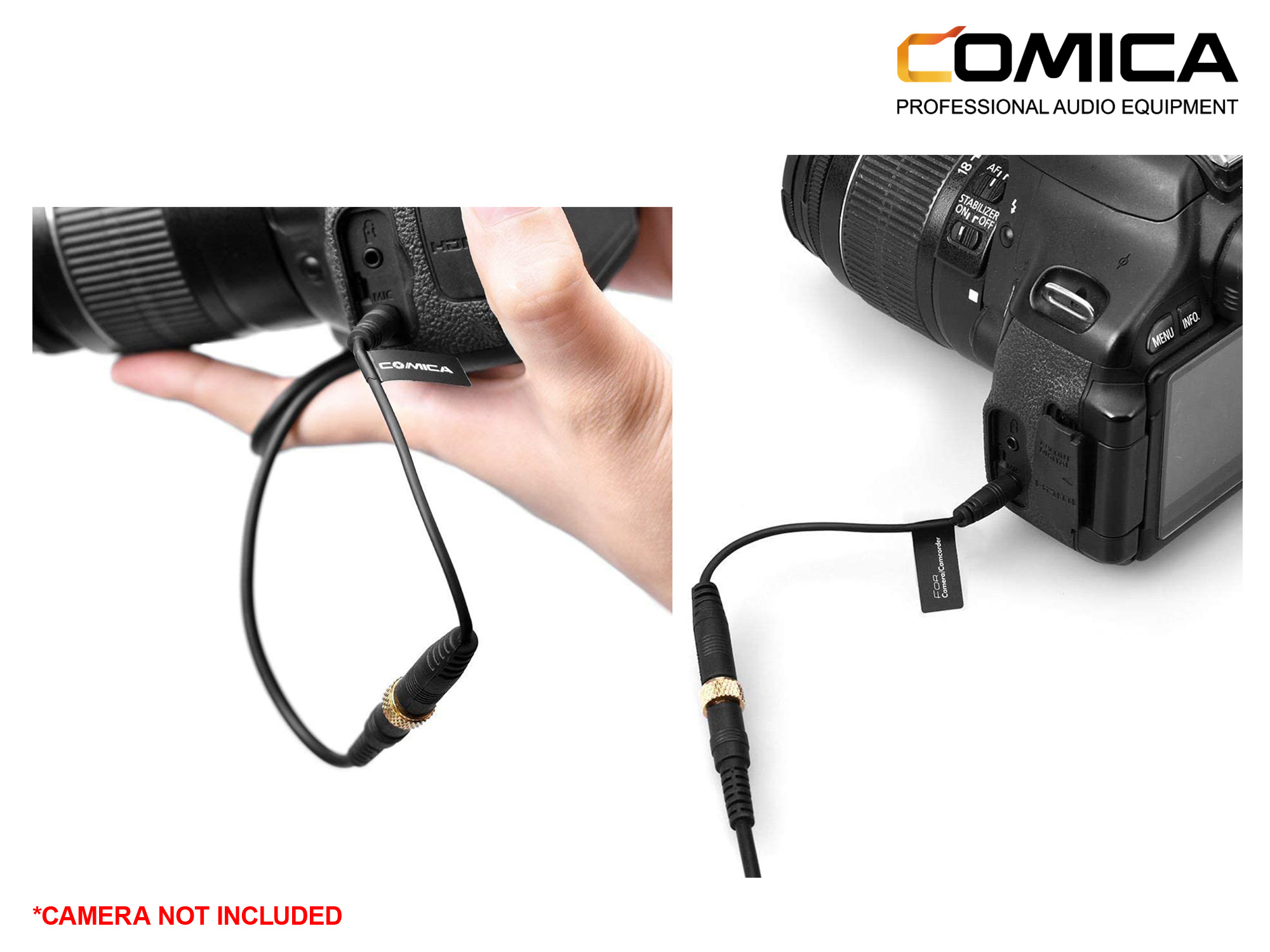 Comica Audio TRRS-TRS Audio Cable Adapter For Camera