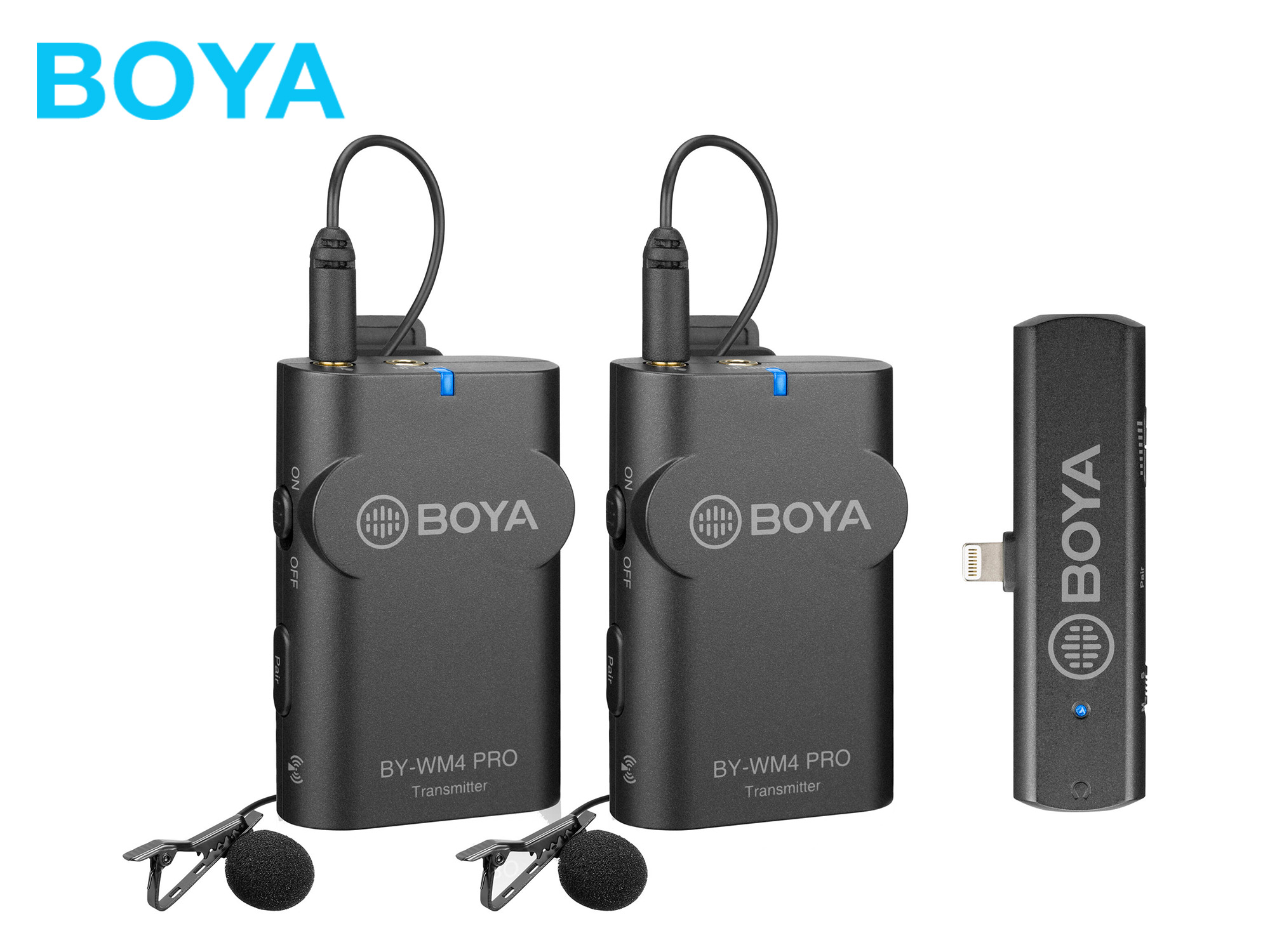 Boya BY-WM4 PRO K4 2.4 GHz Wireless Microphone System For iOS devices (2 Transmitters)