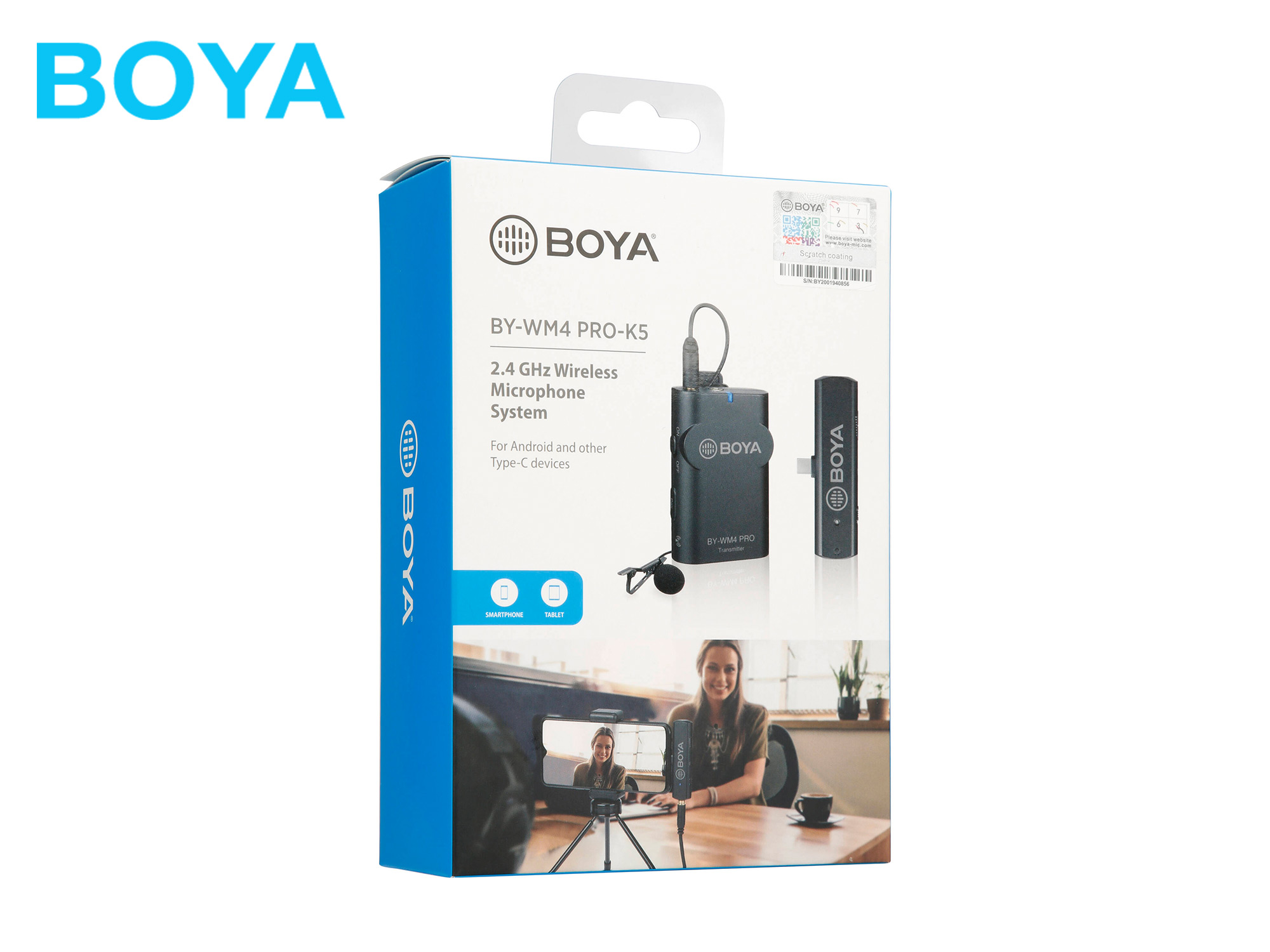 Boya BY-WM4 PRO K5 2.4 GHz Wireless Microphone System For Android and other Type-C devices