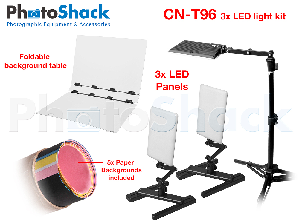 Portable LED Light 3x Kit