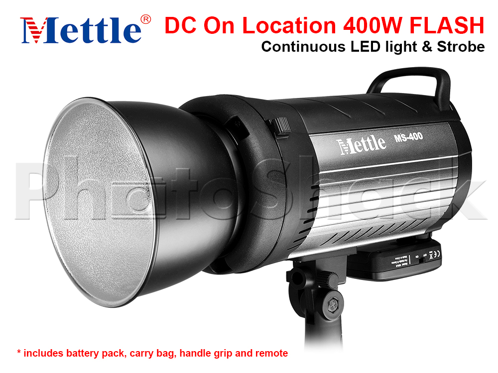 Studio Flash - 400W - Mettle MS400 with Aluminium Case