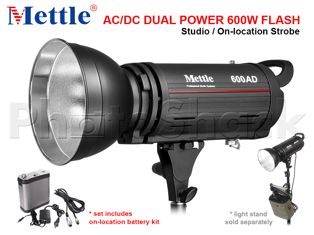 Studio Flash - 600W - AC/DC Dual Power - Mettle 600AD