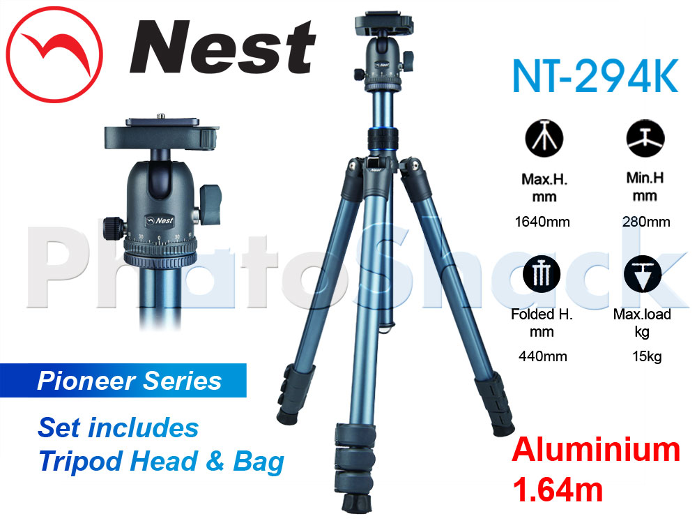 Nest 1.64m Aluminium Tripod 4 section