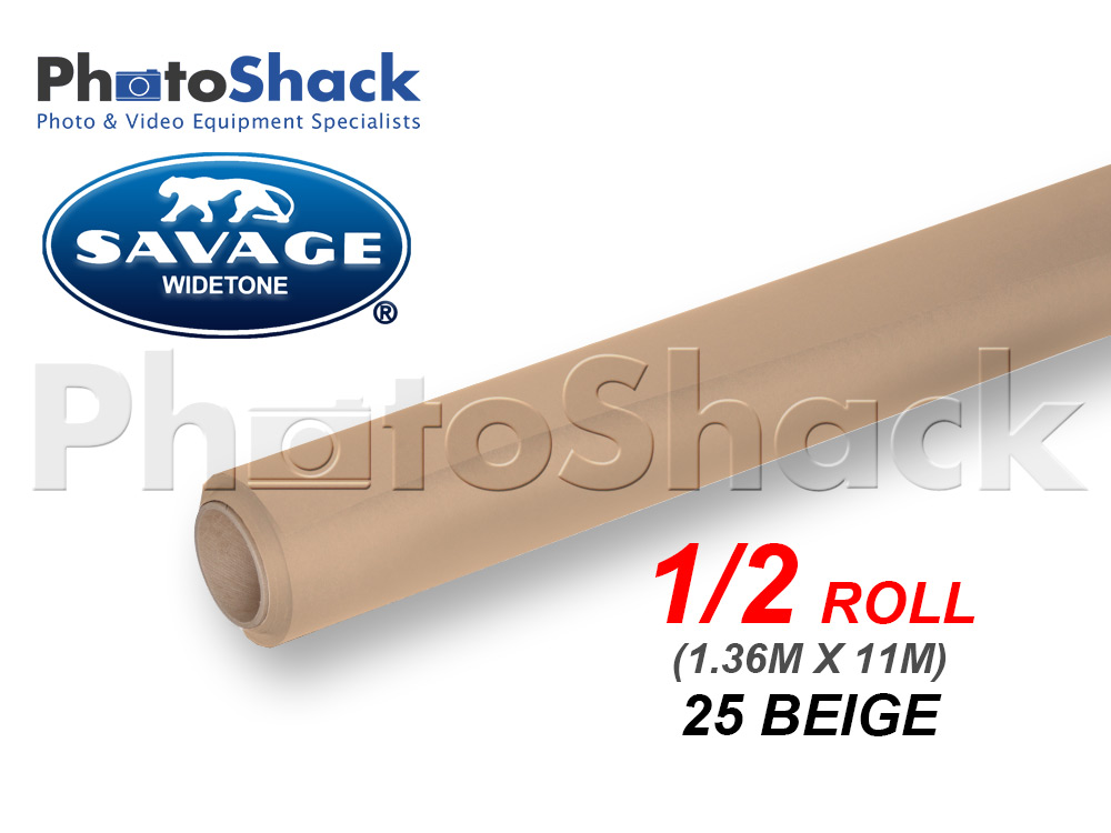 SAVAGE Paper Backdrop Half Roll - 25 Beige